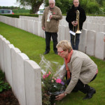 laying wreath